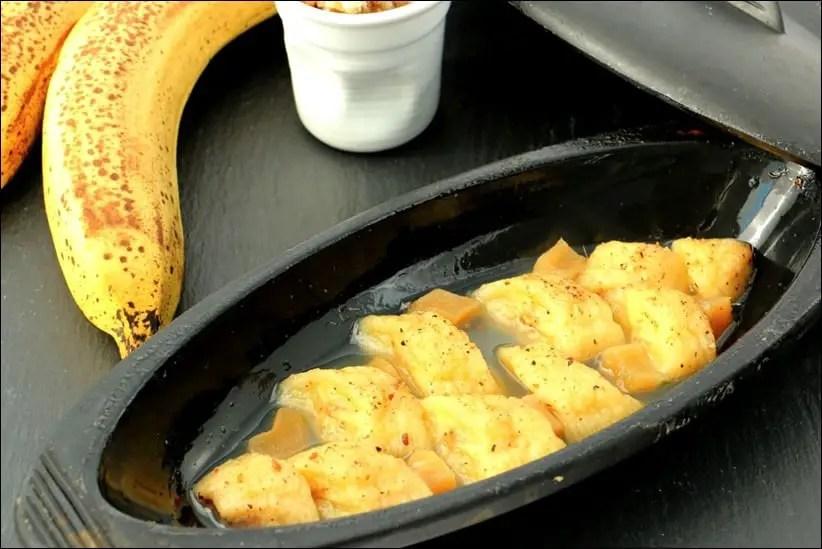 papillotes de banane au gingembre confit