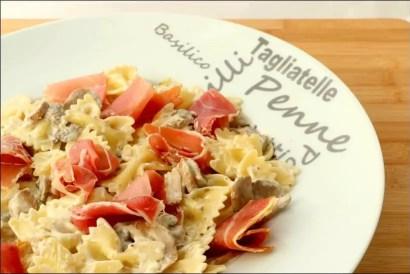pates jambon et champignons