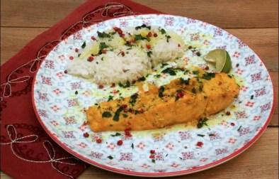 pavés de saumon au curcuma citronnelle et sauce nuoc-mam