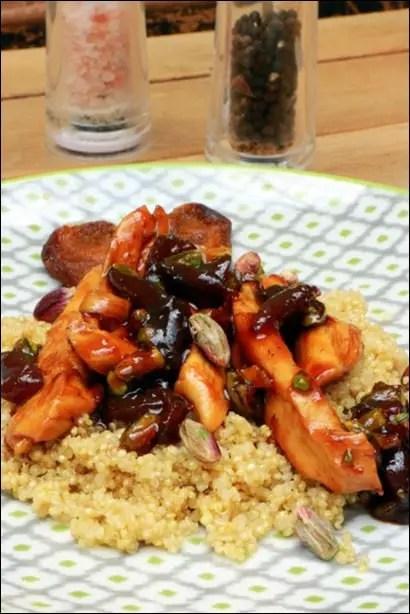 quinoa poulet abricots secs