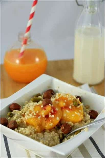porridge peche recette