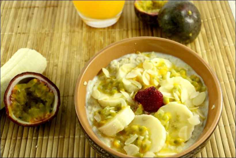 porridge banane avoine