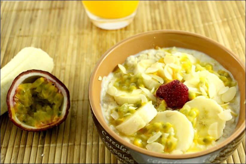 porridge banane flocons d'avoine