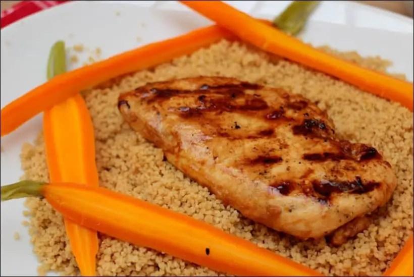 poulet grillé carottes