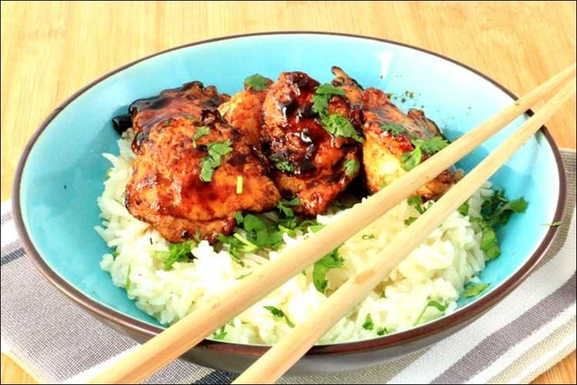 poulet sauté au wok et au miel