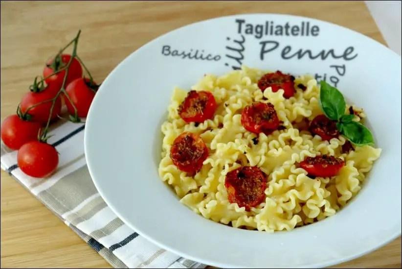 pâtes aux tomates cerises au four à la mode de Brindisi