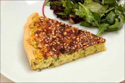 quiche courgette vegetarienne