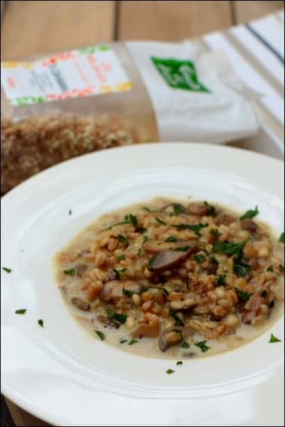 risotto cereales champignons