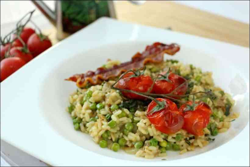 recette de risotto petit pois