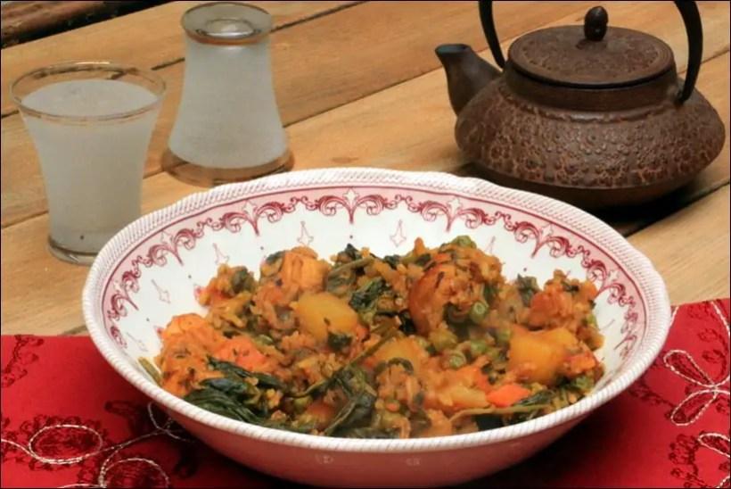 riz djerbien epinard