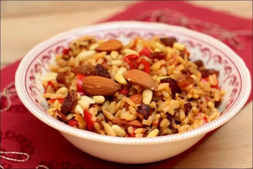 riz poivron raisins secs