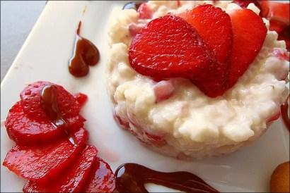 recette riz au lait aux fraises fraiches