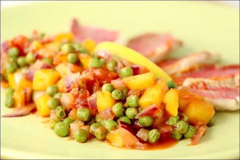 rouget salsa mangue