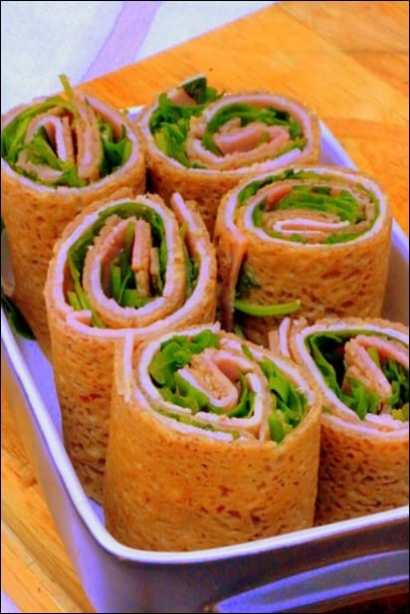crepes roulees jambon