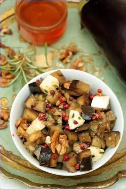 salade aubergine miel