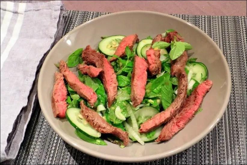 salade boeuf concombre