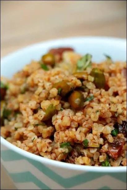 salade boulgour raisins secs