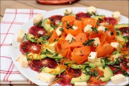 salade carotte orange avocat reblochon