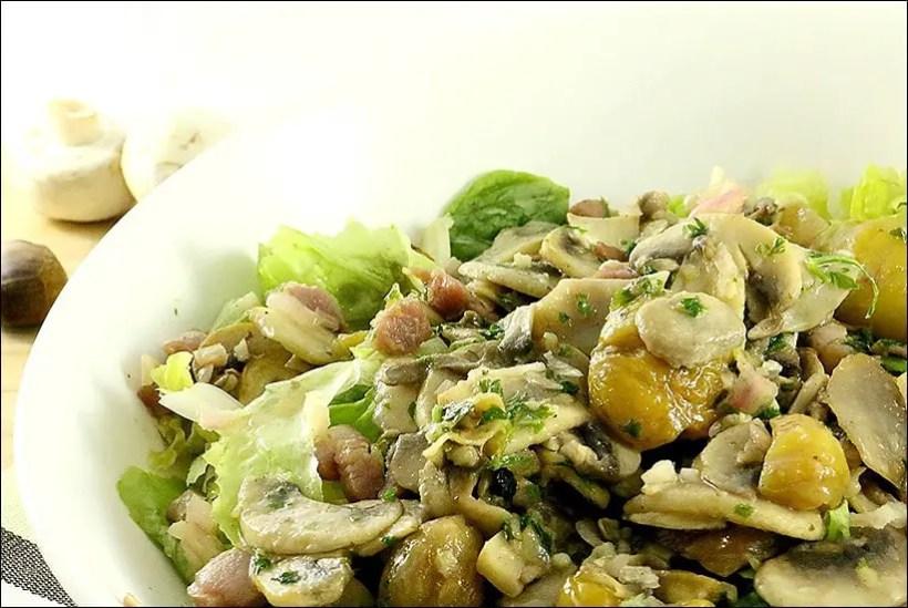 salade d'automne chataignes