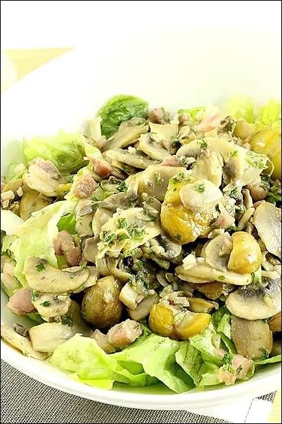 salade composee chataigne