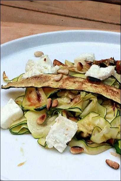 salade courgette feta