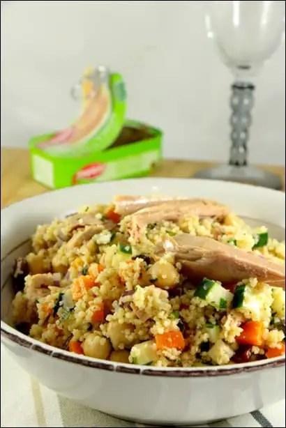 recette salade couscous thon