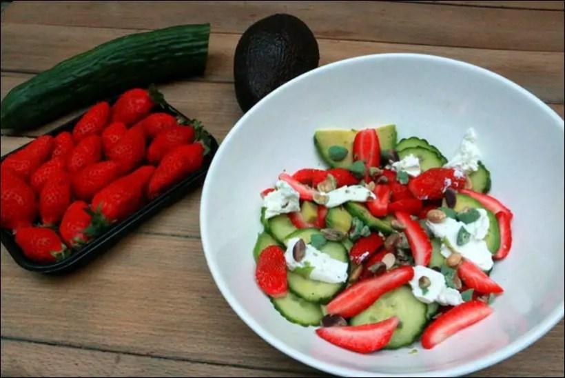 salade fraise fromage de chevre