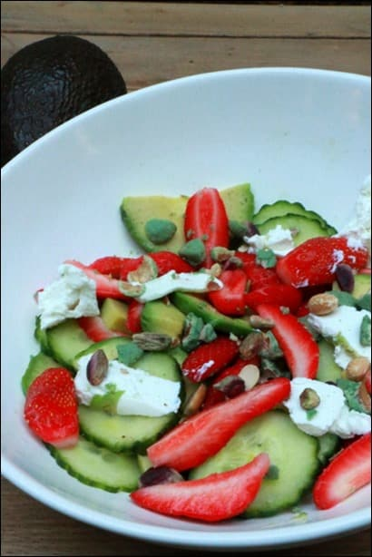 salade salée fraises avocat