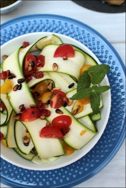 salade courgettes crues