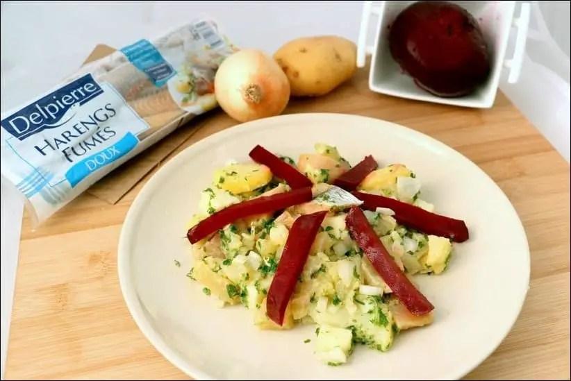 recette salade avec hareng fumé