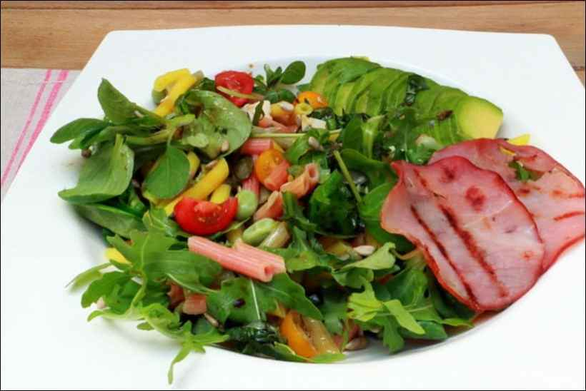 salade de pates avocat bacon