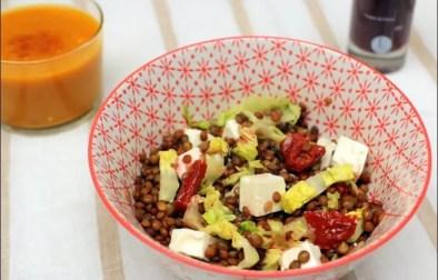 salade de lentilles à la feta et tomates séchées