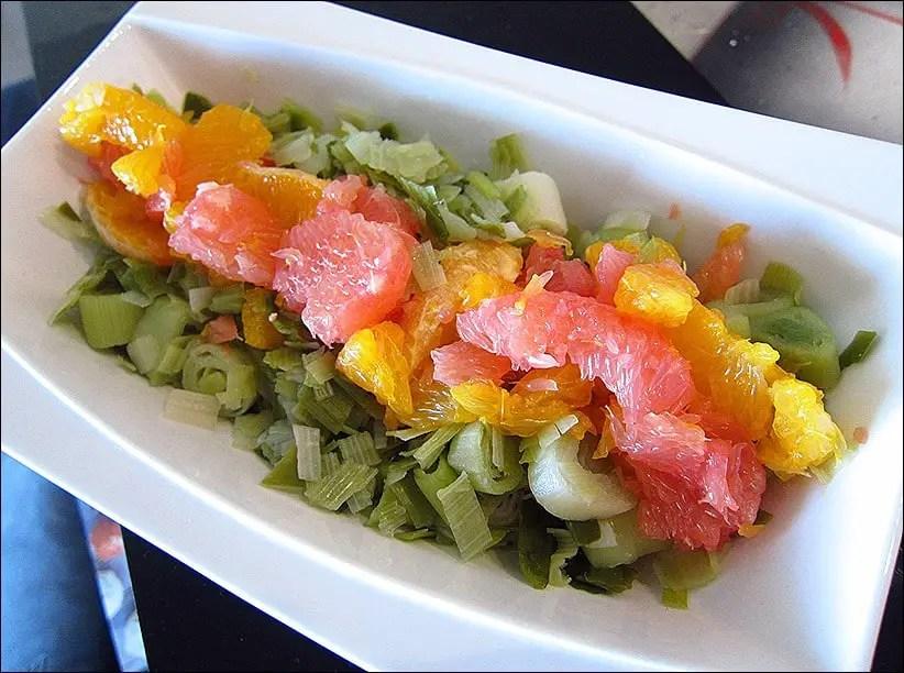 salade poireaux pamplemousse