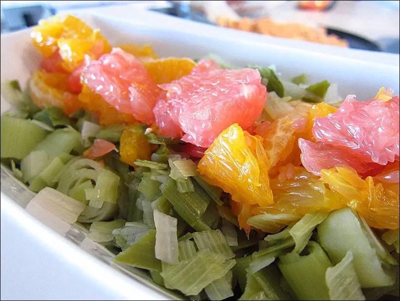 salade poireaux orange