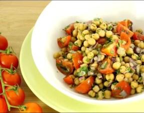 salade de pois chiches à la coriandre et au cumin