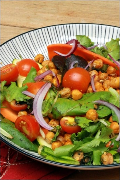 salade pois chiches tomates