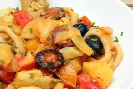 salade de pomme de terre et calamar
