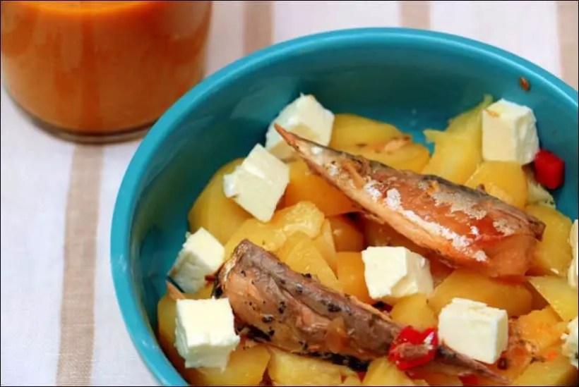 salade pomme de terre maquereau feta