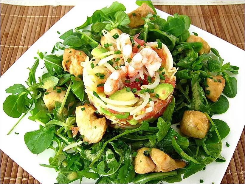 salade poulet avocat pamplemousse