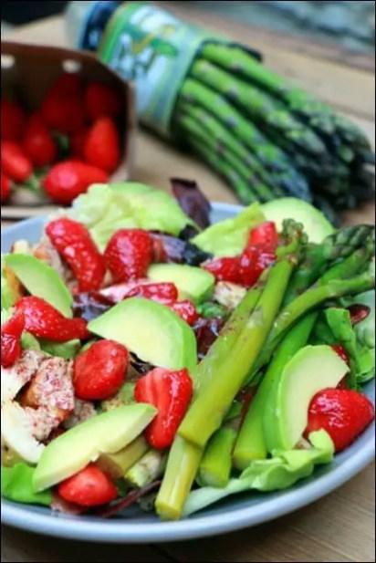 salade poulet avocat fraises