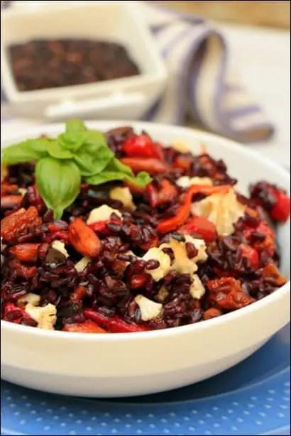 salade de riz poivron grille