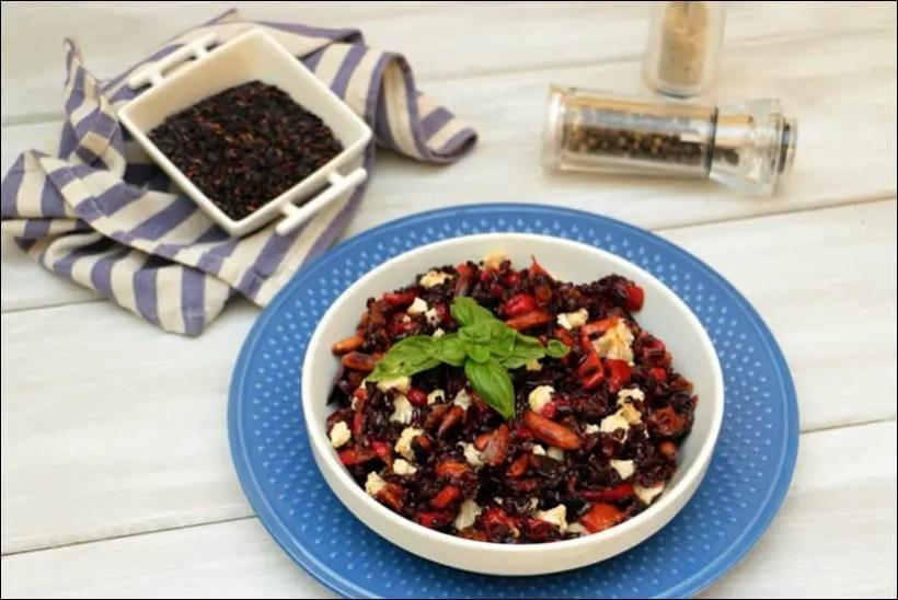 recette salade riz tomate poivron
