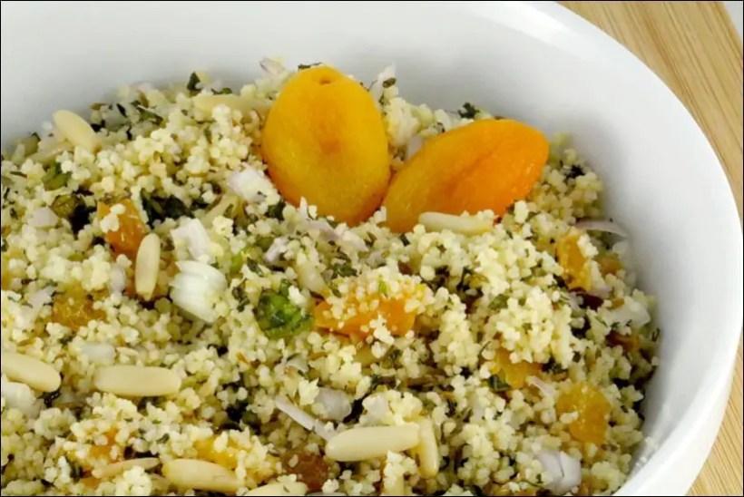 salade semoule raisins secs