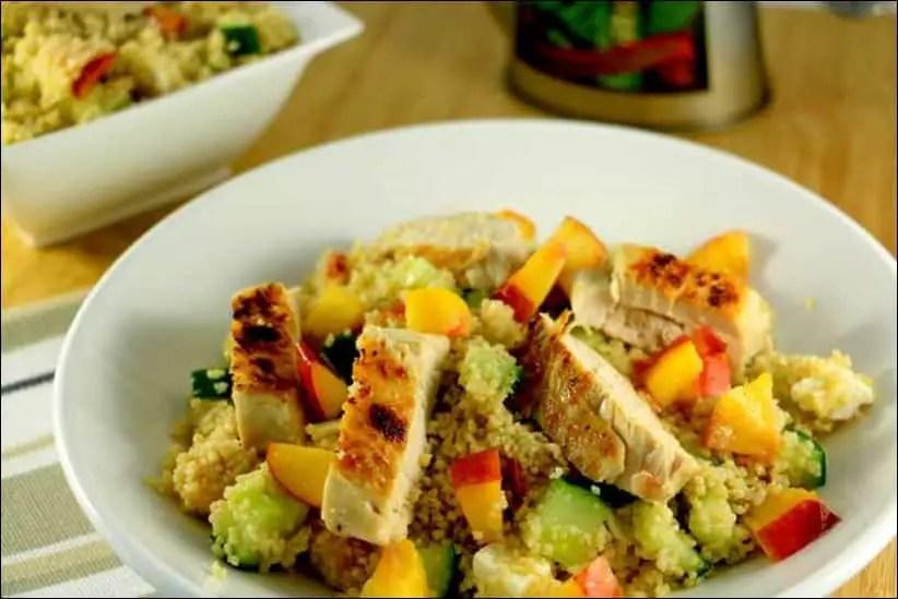 salade couscous poulet feta necatrine