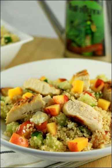 salade couscous poulet nectarine