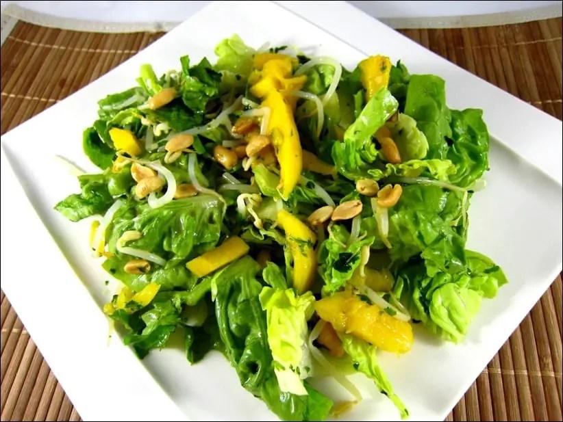 salade de mangue et coriandre