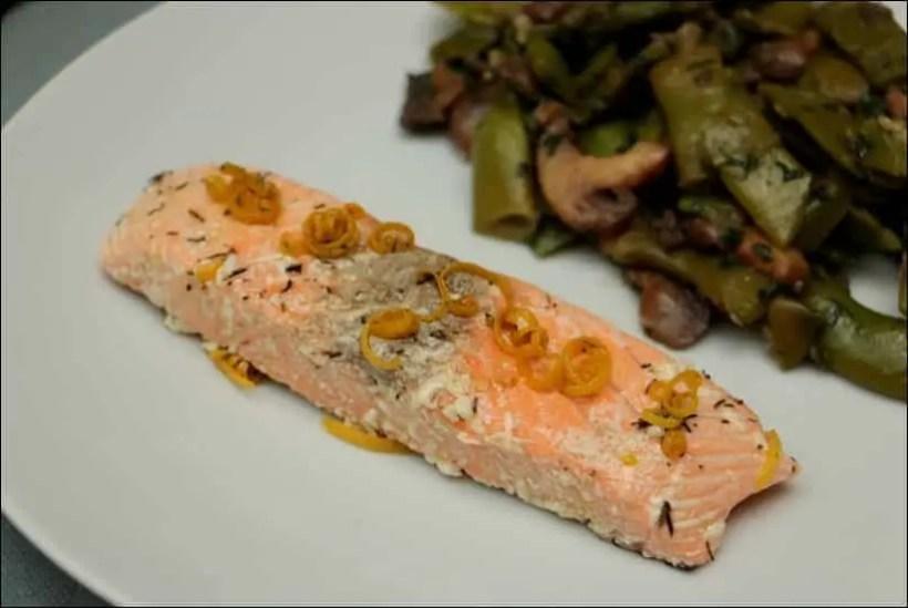 saumon confit au four