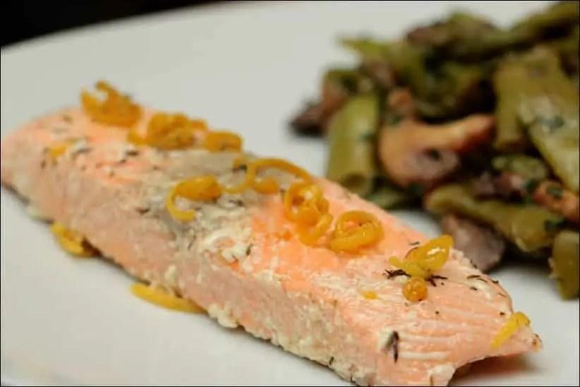 saumon confit basse température four