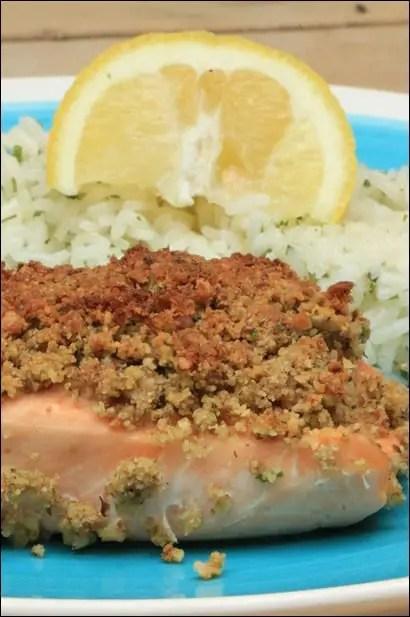 saumon avec croute de noix