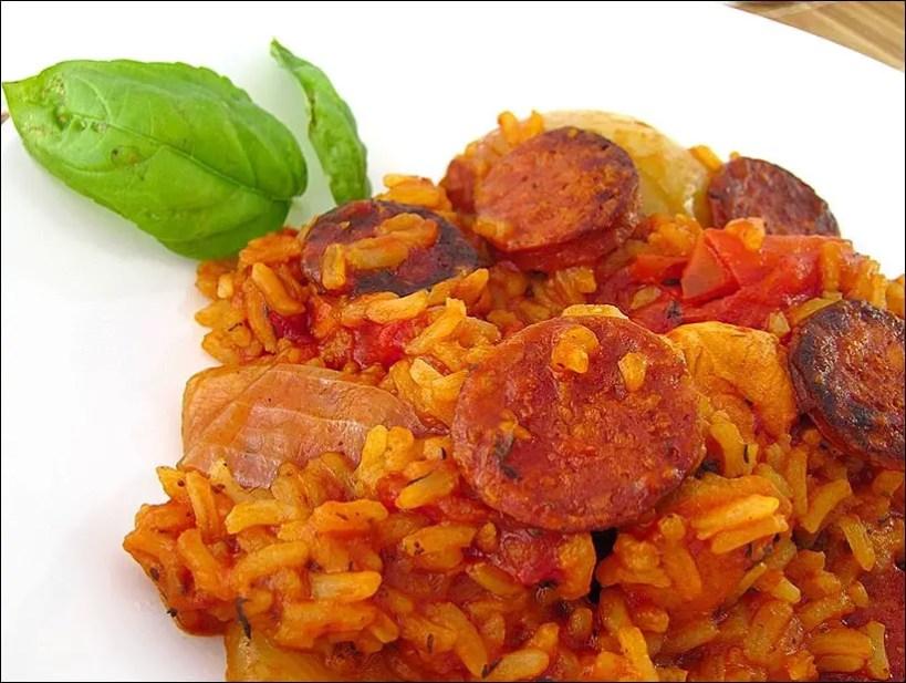 poulet tomate chorizo riz
